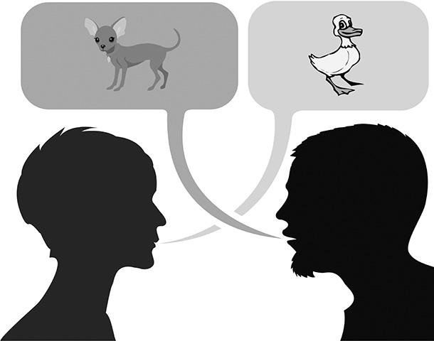 Дискоммуникация, наглядный пример