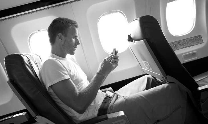 Номофобия в самолете